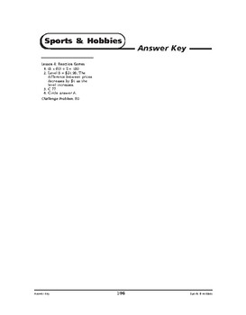 Sports and Hobbies Math: Mind Games-Reaction Games