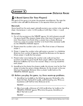 Sports and Hobbies Math: Sports-Distance Races
