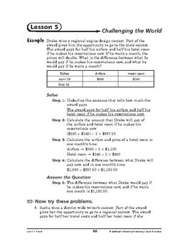 Sports and Hobbies Math: Travel-Challenging the World