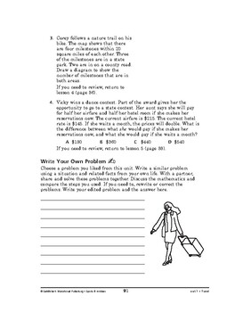 Sports and Hobbies Math: Travel-REVIEW