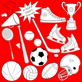 Sports and Physical Education Clipart - The All Star Collection