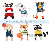 Sports animals Clipart Instant Download PNG
