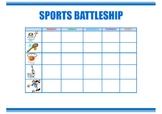 Sports battleship. Speaking activity.