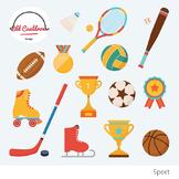 Sports clipart, hockey, baseball, football, trophy, prize