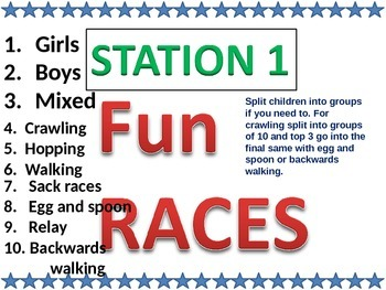 Sports day station games