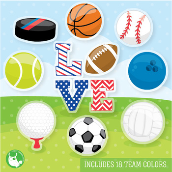 Sports equipment clipart commercial use, vector graphics  - CL1089