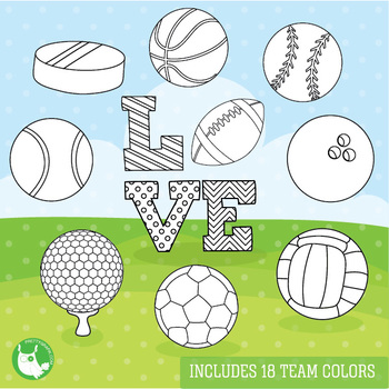 Sports equipment stamps,  commercial use, vector graphics, images  - DS1089
