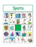 Sports in English Bingo
