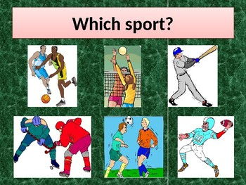 Sports in English powerpoint