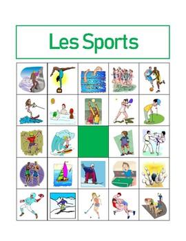Sports in French Bingo