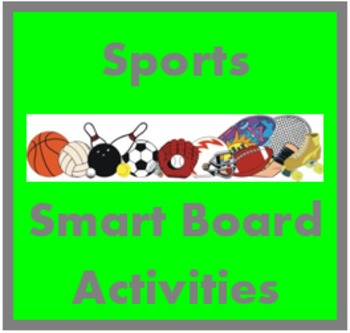 Sports in French Smartboard activities