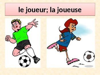 Sports in French power point