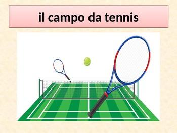 Sport in Italian power point