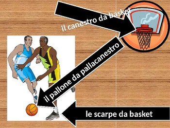 Sports in Italian power point