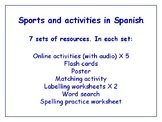 Sports in Spanish Worksheets, Games, Activities & More (with audio) Bundle