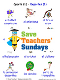 Sports in Spanish Worksheets, Games, Activities and Flash Cards (1)