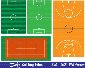 Sports items EPS SVG DXF school field gear soft football balls cut cutting -11S