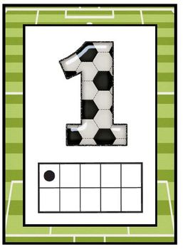 Sports tens frame Numbers