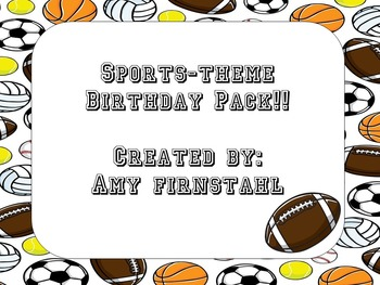 Sports-theme Birthday Pack!