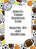 Sports-theme Calendar Pack!