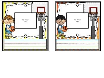 Sports Theme Photo Nametags {Lockers, Cubbies, Desks}