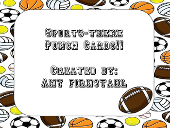 Sports-theme Punch Cards!