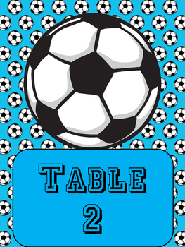 Sports-theme Table Numbers!