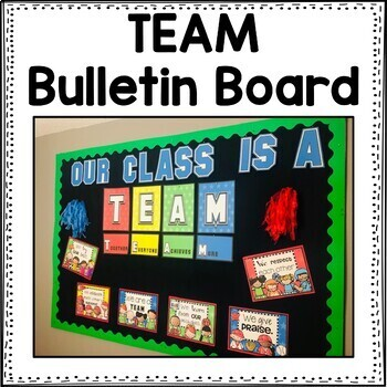 Editable sports theme bulletin board ~ TEAM