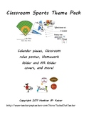 Sports theme classroom pack