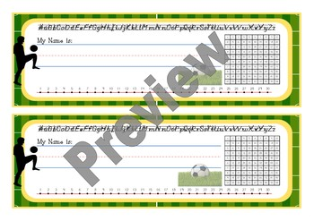 Sports theme soccer Name Desk / Table Labels Back to school