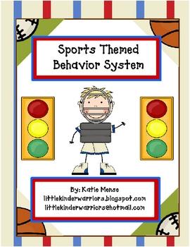 Sports theme stoplight behavior management system