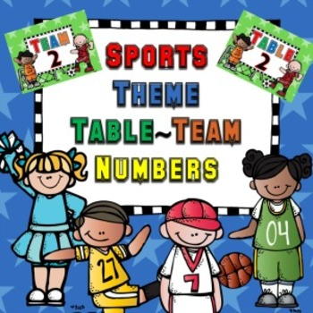 Sports theme table numbers
