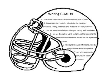 Sports theme writing and language arts