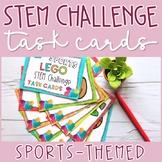 Sports-themed Building Bricks STEM Challenge Task Cards