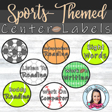 Sports-themed Center Labels