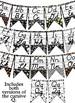 Sports themed D'Nealian manuscript &cursive Alphabet banner