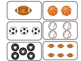 Sports themed Printable Counting Flash Cards. Preschool Ma