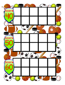 Sports themed Ten Frames