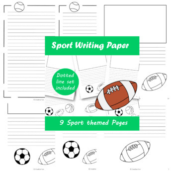 Sports themed Writing Paper