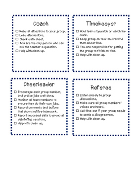 Sports themed group roles