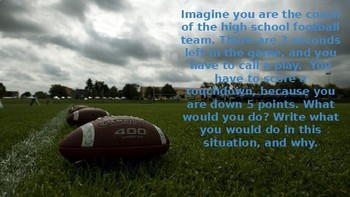 Sports themed journal writing prompts