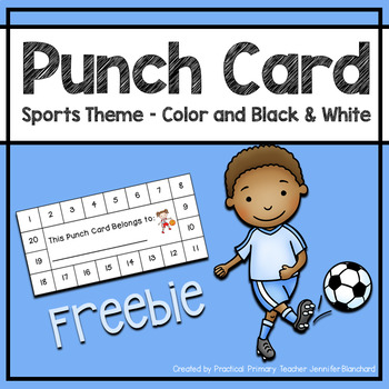 Reward Punch Card - Sports Theme