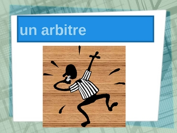 Sports vocabulary in French power point