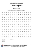 Sports worksheet - word search
