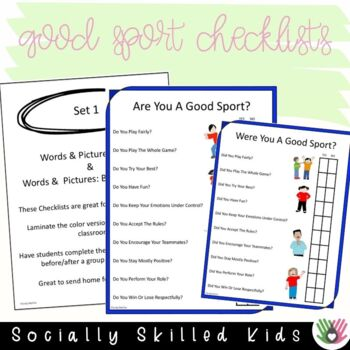 SOCIAL SKILLS Good Sport Checklists {6 Differentiated Checklists}