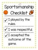 Sportsmanship Checklist Poster