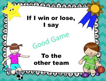 Sportsmanship Choice Cards - Character Education - Decision Making