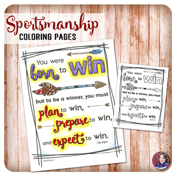 Sportsmanship Quote Coloring Activities