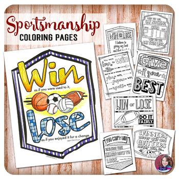 Good Sportsmanship Quote Coloring Activities