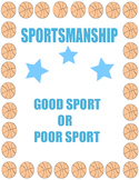 Sportsmanship: Good Sports and Poor Sports Choice Cards - Character Education
